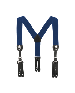 """2"""" Y-Back Cinch-Up Button-On Suspender with Navy Blue Webbing"""