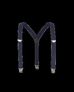 "1-1/2"" Y-Back Work Clip-On Suspender with Navy Blue Webbing"