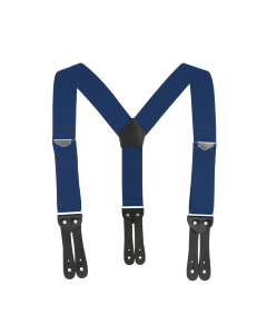 """2"""" Y-Back Work Button-On Suspender with Navy Blue Webbing"""